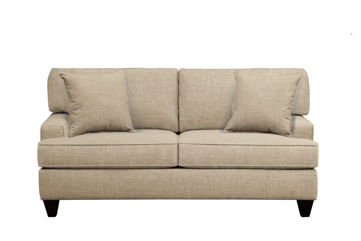 "Conner Track Arm Sofa 75"" Milford II Toast w/ Milford II Toast  Pillow"