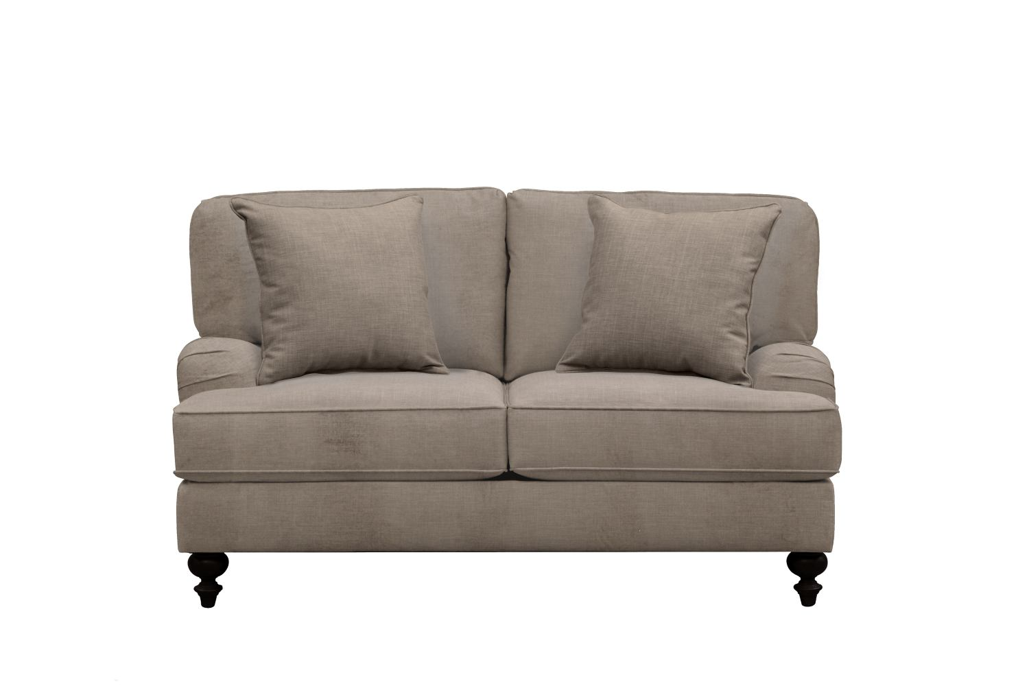 "Living Room Furniture - Avery English Arm Sofa 62"" Oakley III Granite w/ Oakley III Granite Pillow"