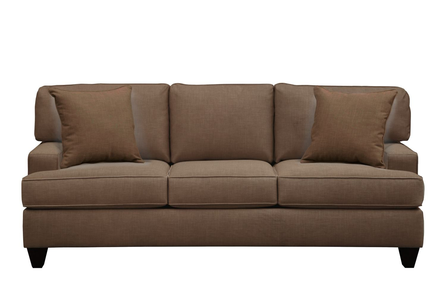 "Living Room Furniture - Conner Track Arm Sofa 87"" Oakley III Java w/ Oakley III Java Pillow"