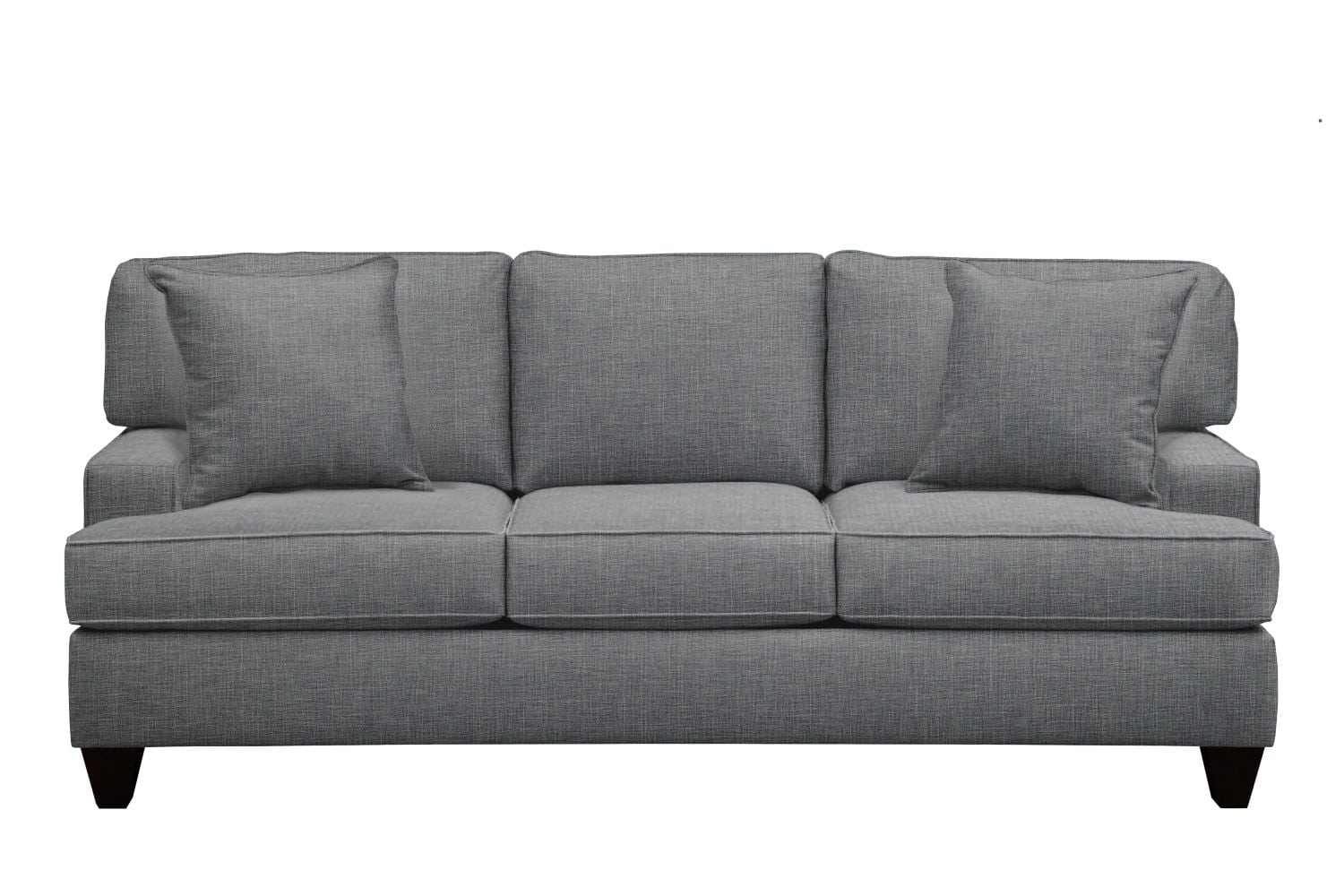 "Living Room Furniture - Conner Track Arm Sofa 87"" Milford II Charcoal w/ Milford II Charcoal  Pillow"