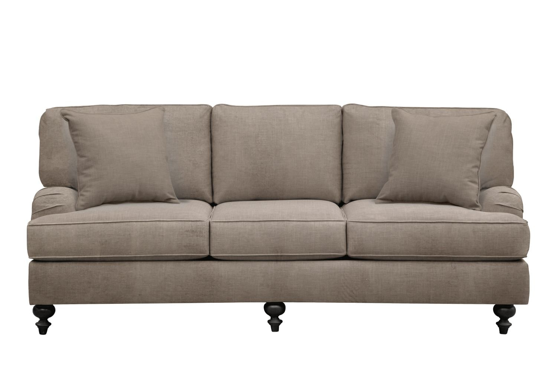 "Living Room Furniture - Avery English Arm Sofa 86"" Oakley III Granite w/ Oakley III Granite Pillow"
