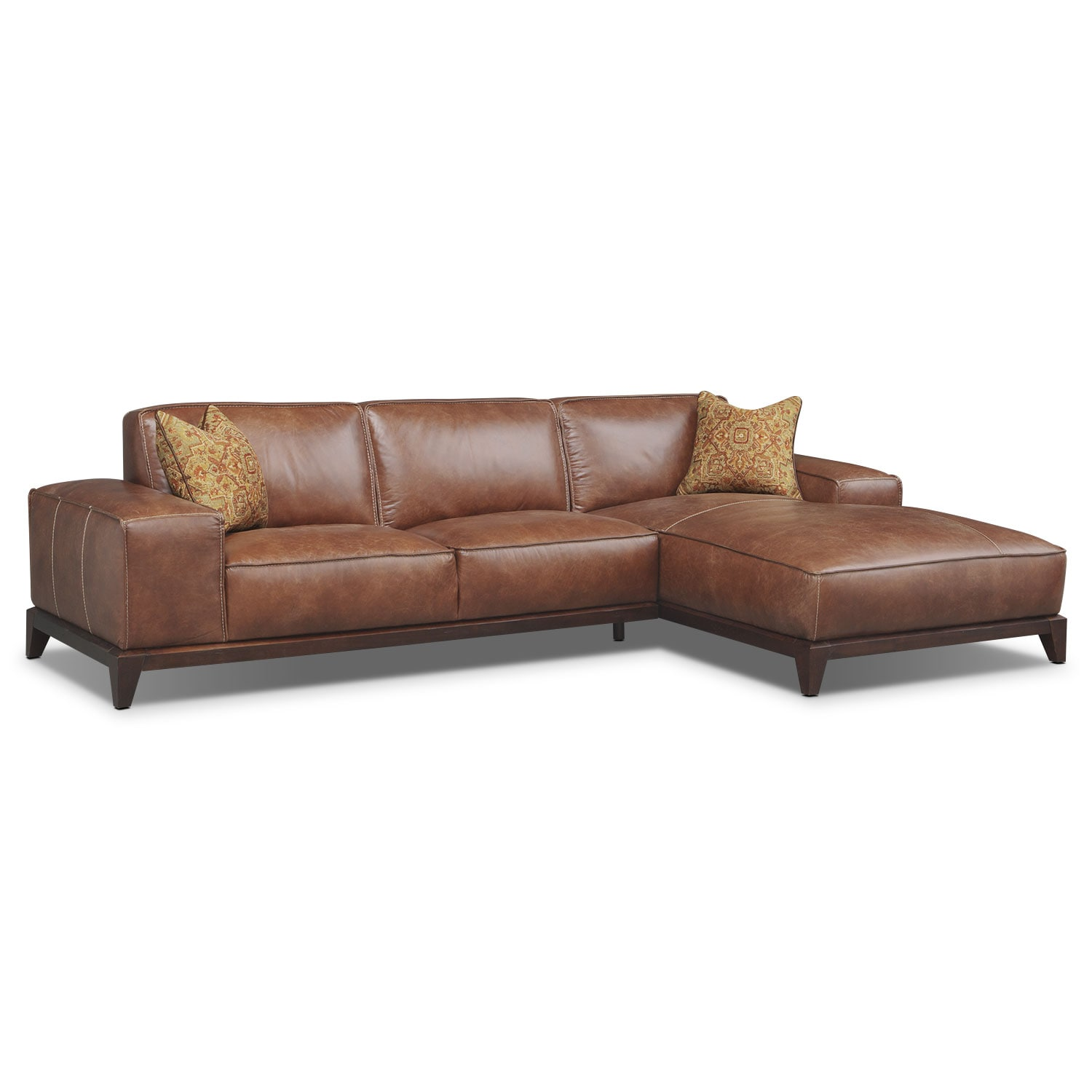 Harrison 2-Piece Right-Facing Sectional - Tobacco
