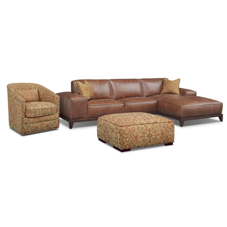 Living Room Furniture - Harrison 4 Pc. Living Room