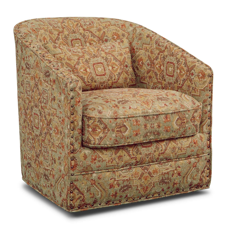 Living Room Furniture - Harrison Swivel Chair - Copper