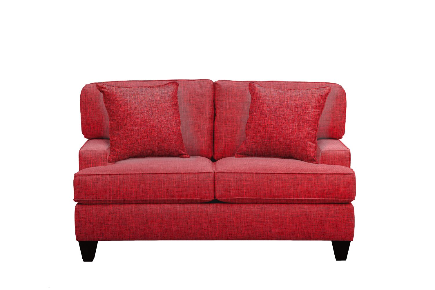 "Conner Track Arm Sofa 63"" Milford II Red w/ Milford II Red  Pillow"