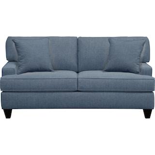 "Conner Track Arm Sofa 75"" Milford II Indigo  w/ Milford II Indigo Pillow"