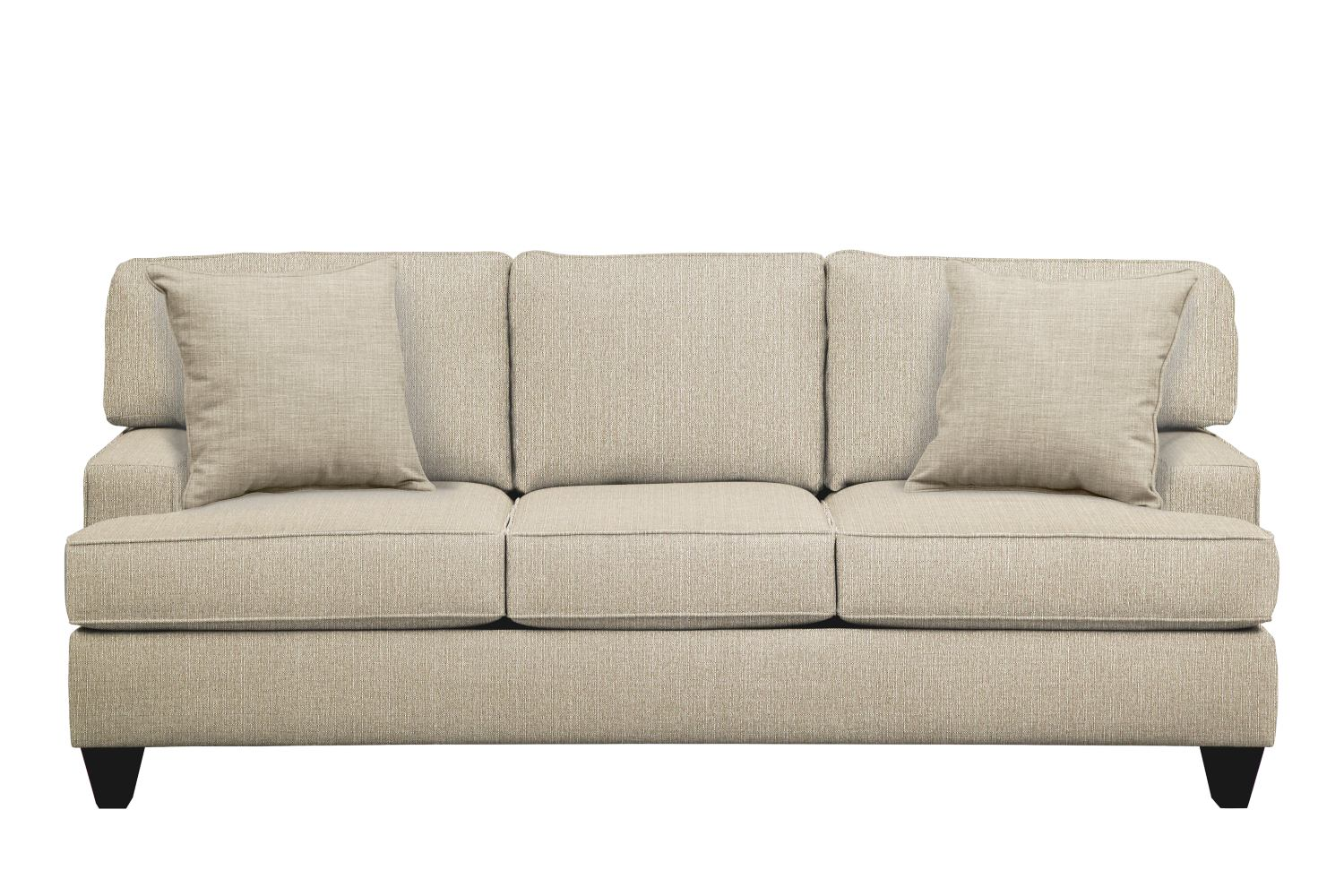 "Living Room Furniture - Conner Track Arm Sofa 87"" Depalma Taupe w/ Depalma Taupe  Pillow"