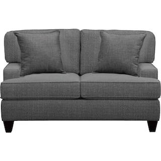 "Conner Track Arm Sofa 63"" Depalma Charcoal w/ Depalma Charcoal Pillow"