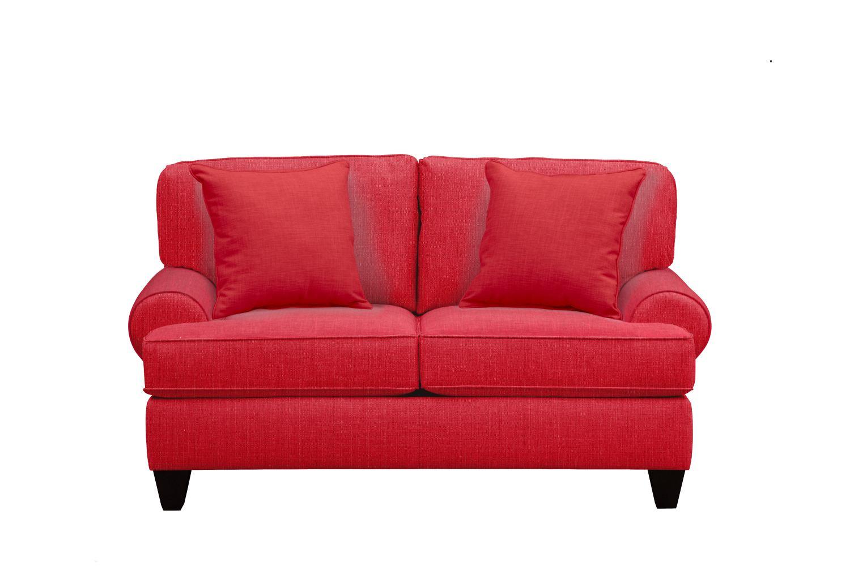 "Living Room Furniture - Bailey Roll Arm Sofa 67"" Depalma Cherry w/ Depalma Cherry Pillow"