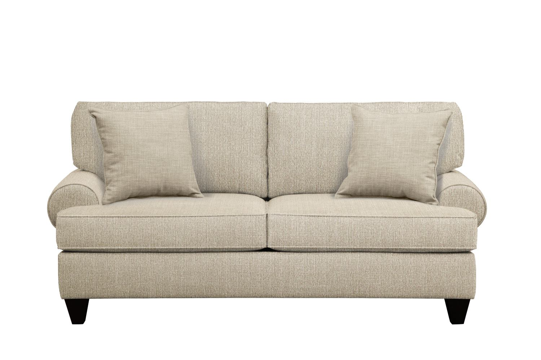 "Living Room Furniture - Bailey Roll Arm Sofa 79"" Depalma Taupe w/ Depalma Taupe  Pillow"