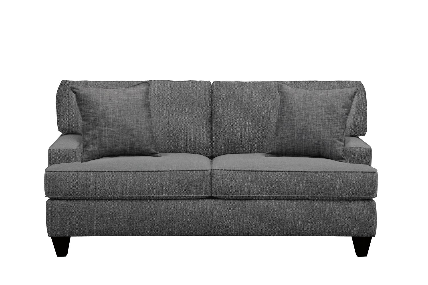 "Conner Track Arm Sofa 75"" Depalma Charcoal w/ Depalma Charcoal Pillow"