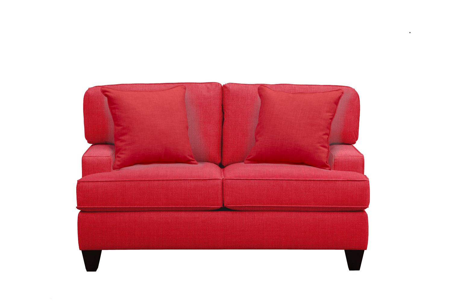 "Living Room Furniture - Conner Track Arm Sofa 63"" Depalma Cherry w/ Depalma Cherry Pillow"