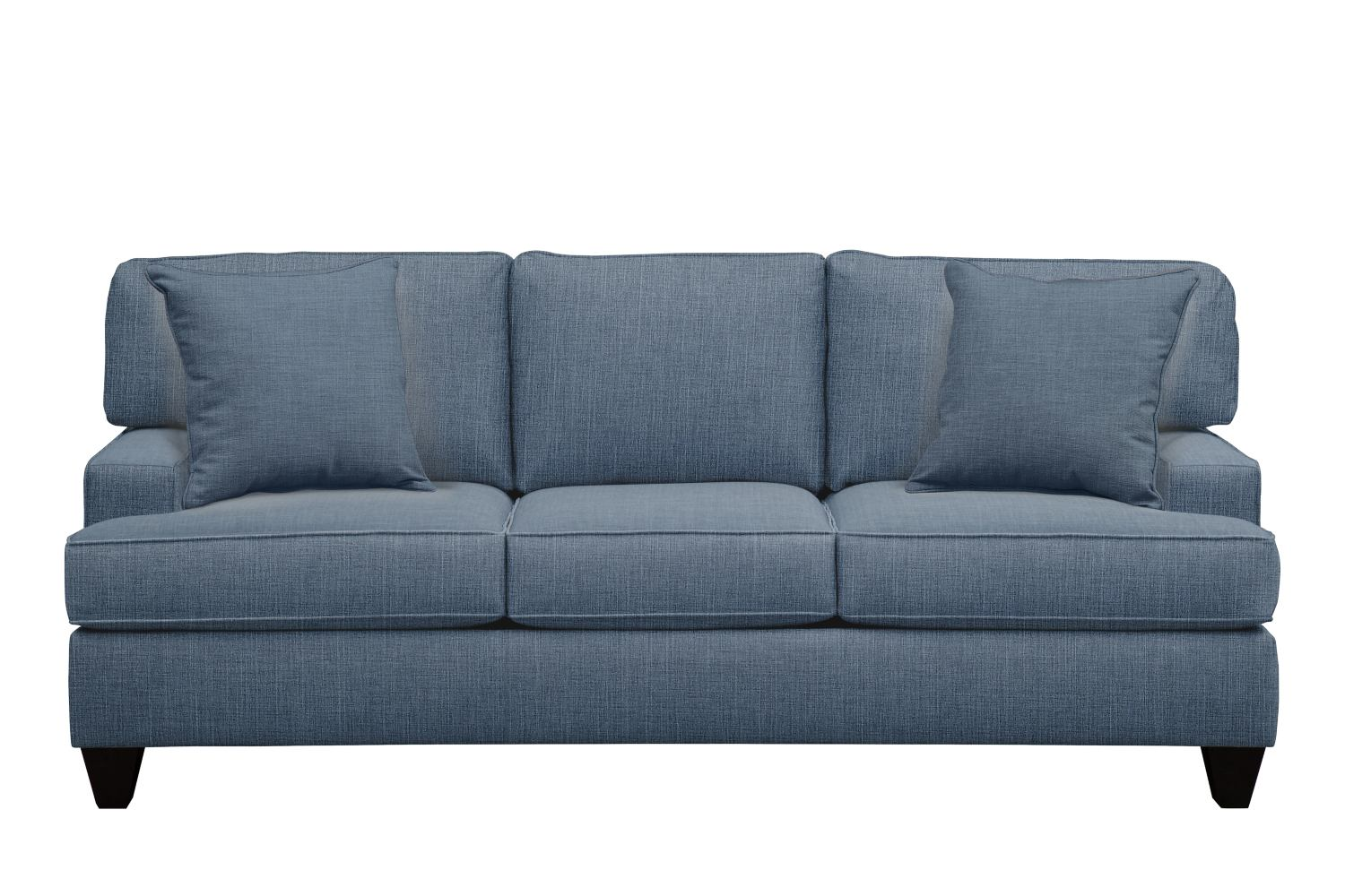 "Living Room Furniture - Conner Track Arm Sofa 87"" Milford II Indigo  w/ Milford II Indigo Pillow"