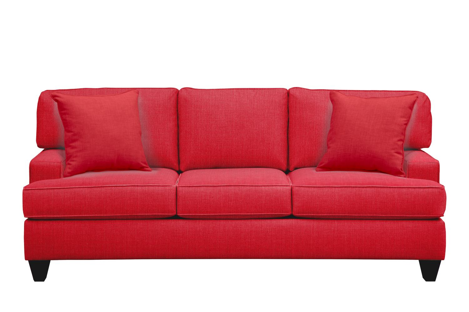 "Living Room Furniture - Conner Track Arm Sofa 87"" Depalma Cherry w/ Depalma Cherry Pillow"