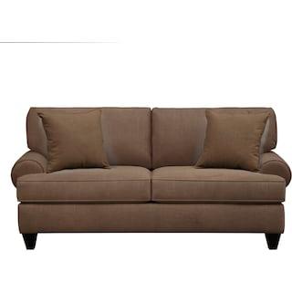 "Bailey Roll Arm Sofa 79"" Oakley III Java w/ Oakley III Java Pillow"