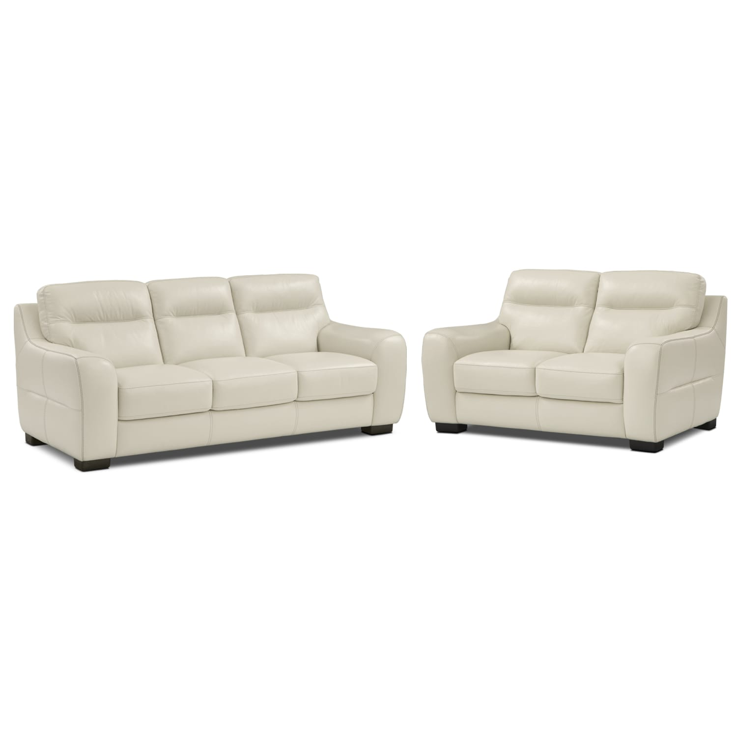 Living Room Furniture - Rocco Snow 2 Pc. Living Room
