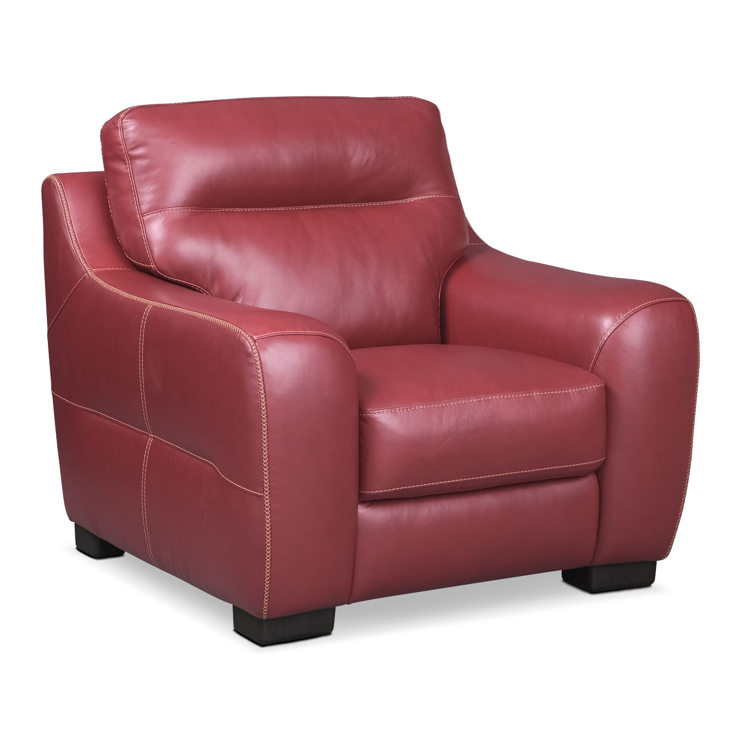Living Room Furniture - Rocco Chair - Red