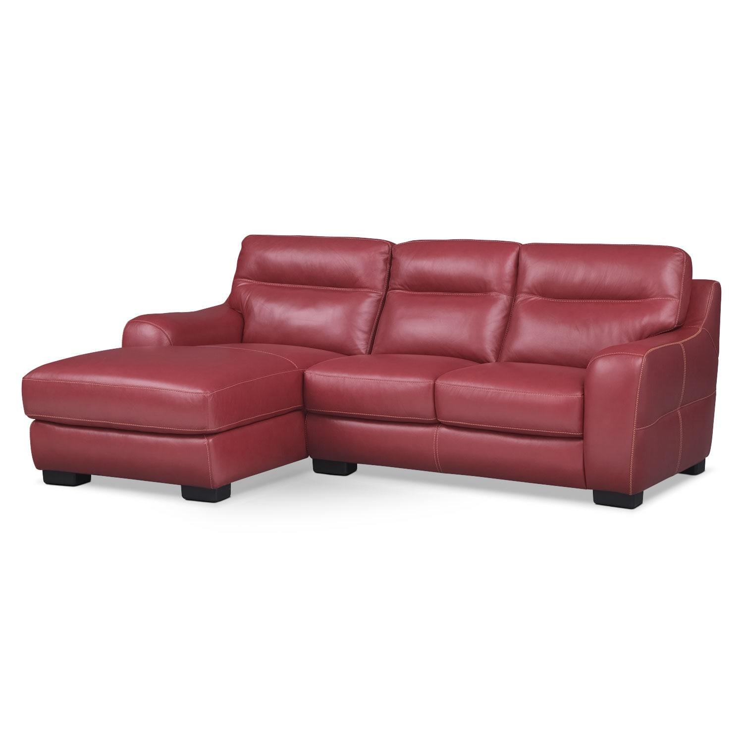 Living Room Furniture - Rocco Red 2 Pc. Left-Facing Chaise Sectional