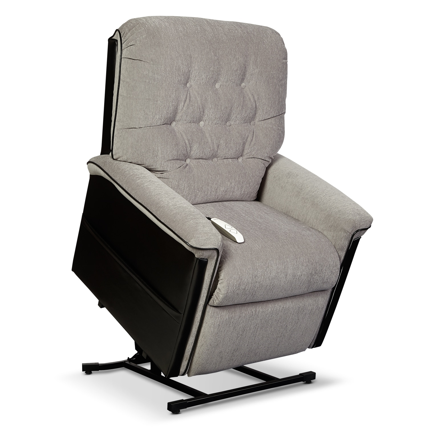 Living Room Furniture - Karmon Lift Chair - Black and Gray