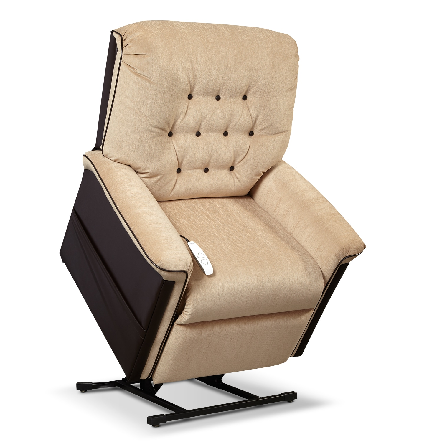 Karmon Lift Chair - Chestnut and Sand