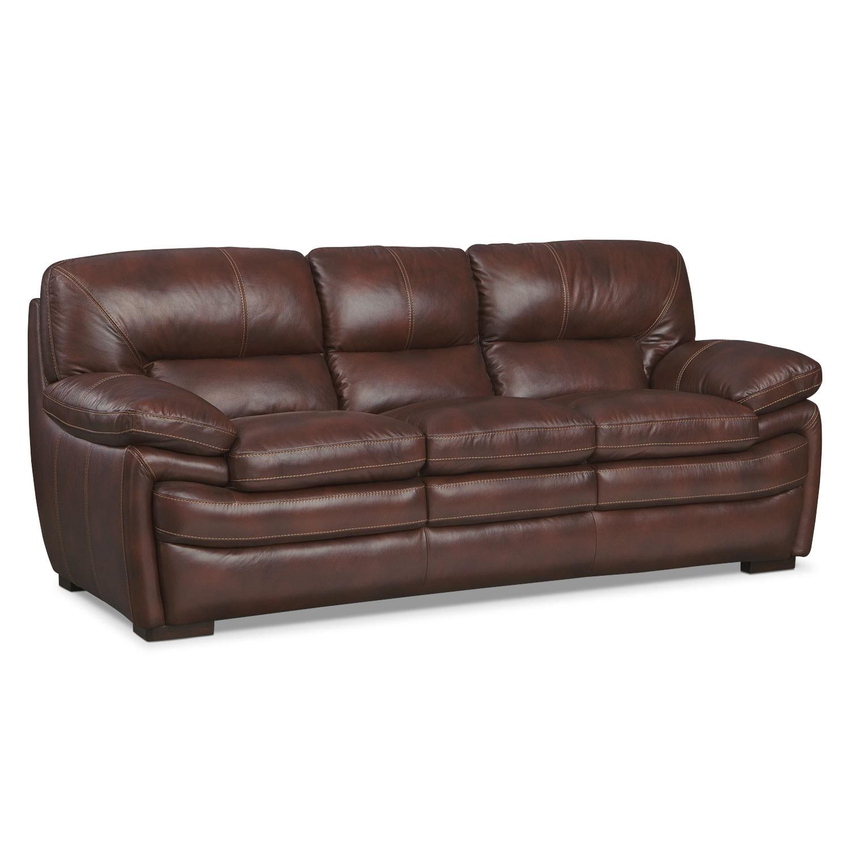 Living Room Furniture - Peyton Chestnut Sofa