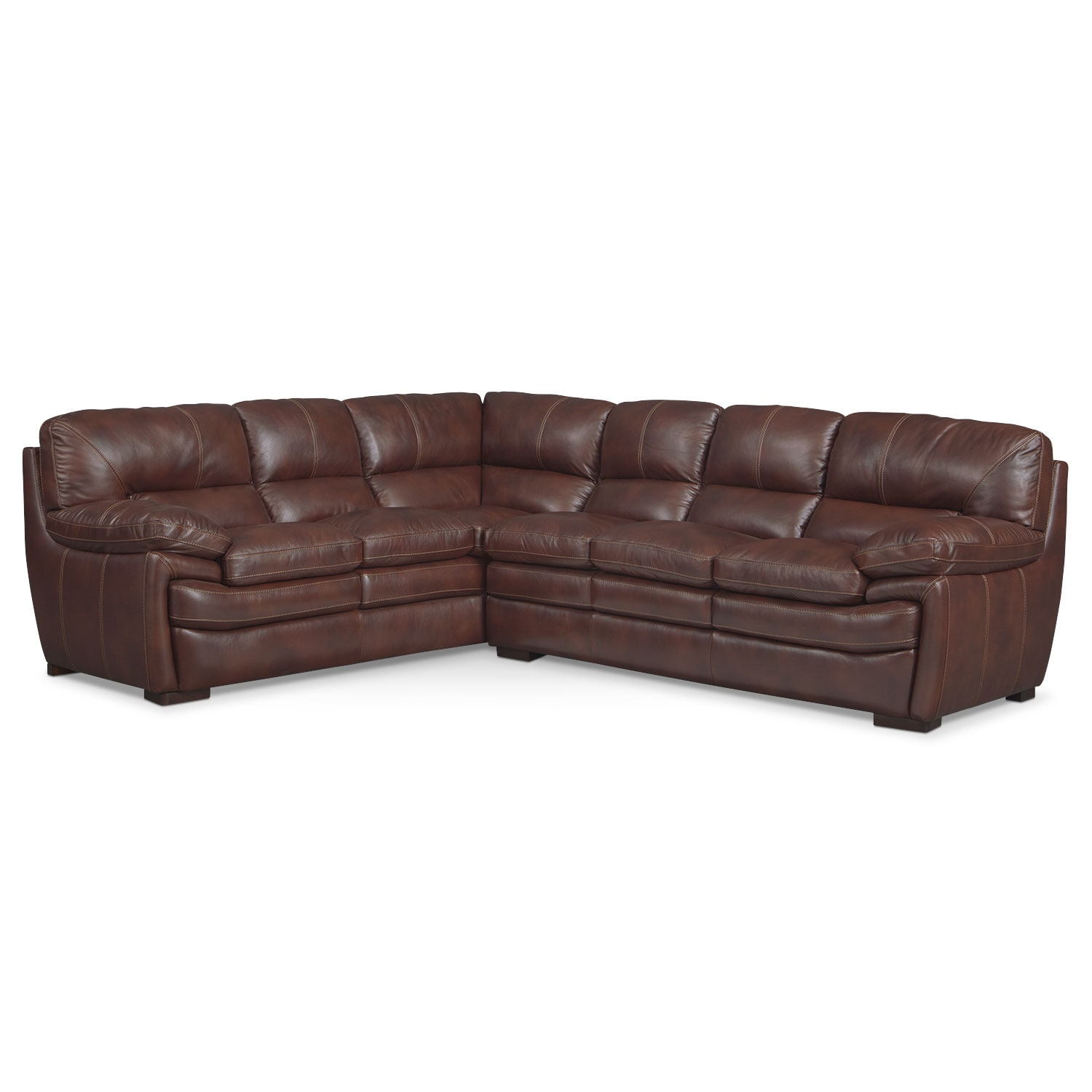 Living Room Furniture - Peyton Chestnut 2-Piece Sectional - Chestnut