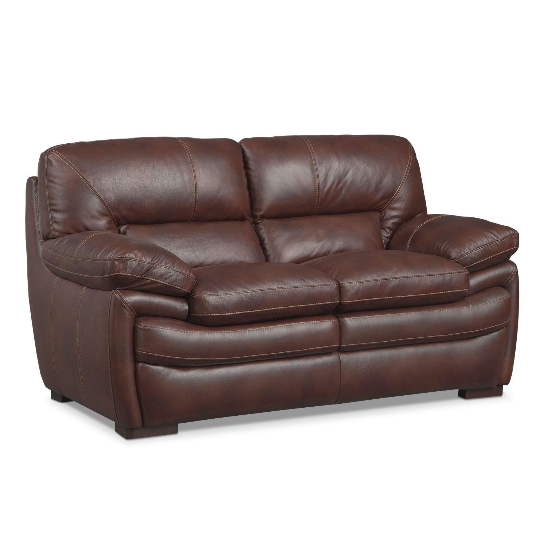 Living Room Furniture - Peyton Chestnut Loveseat