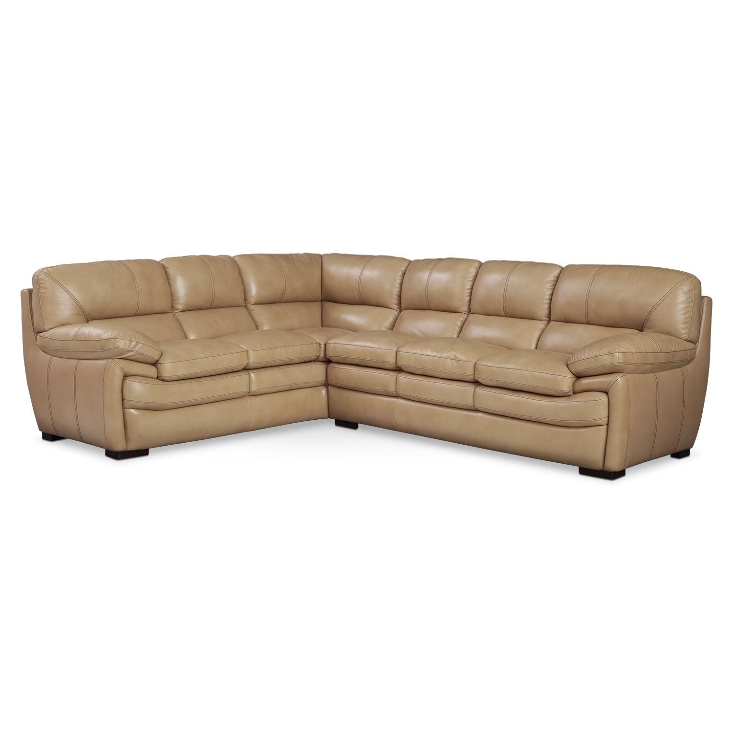 Living Room Furniture - Peyton Taupe 2 Pc. Sectional