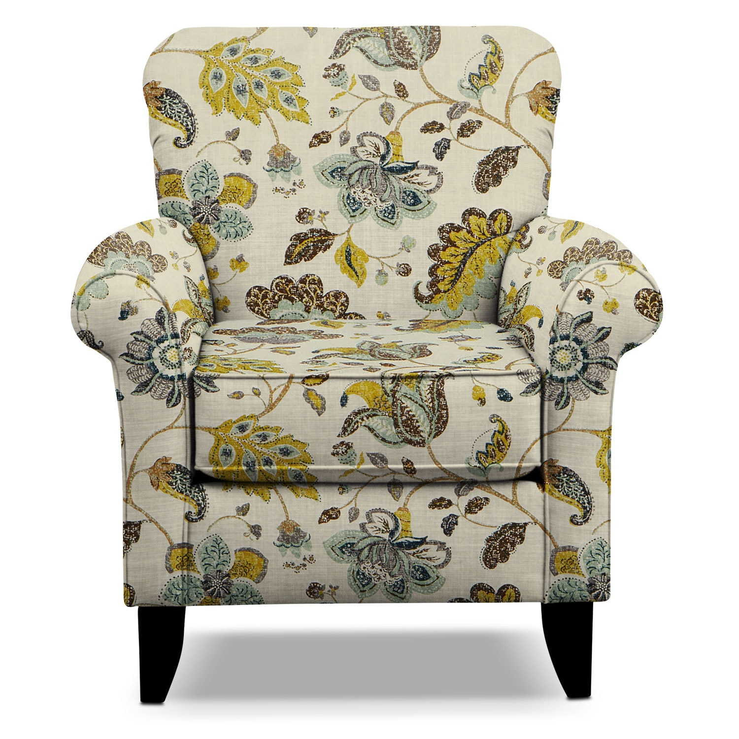 Living Room Furniture - Tracy Accent Chair - Floral  sc 1 st  American Signature Furniture & Tracy Accent Chair - Floral | American Signature Furniture