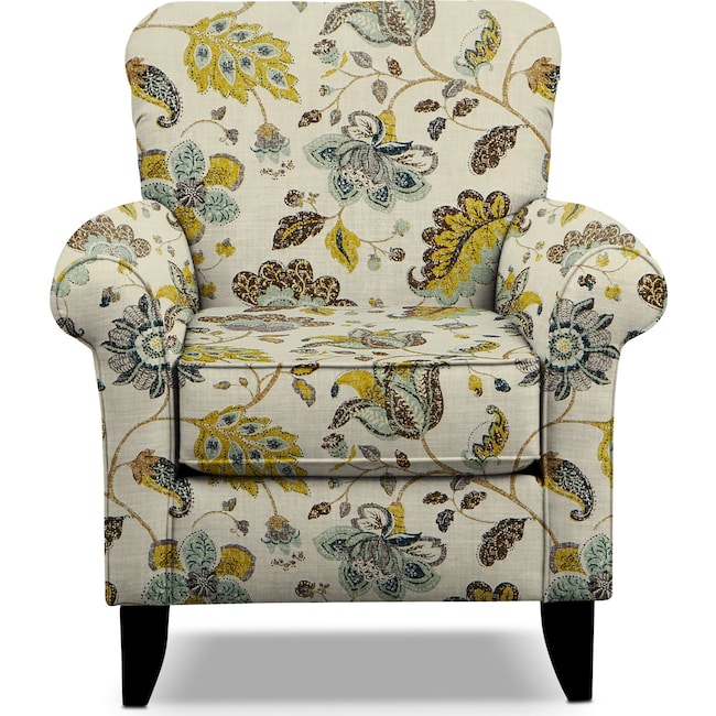 Living Room Furniture - Tracy Accent Chair - Floral