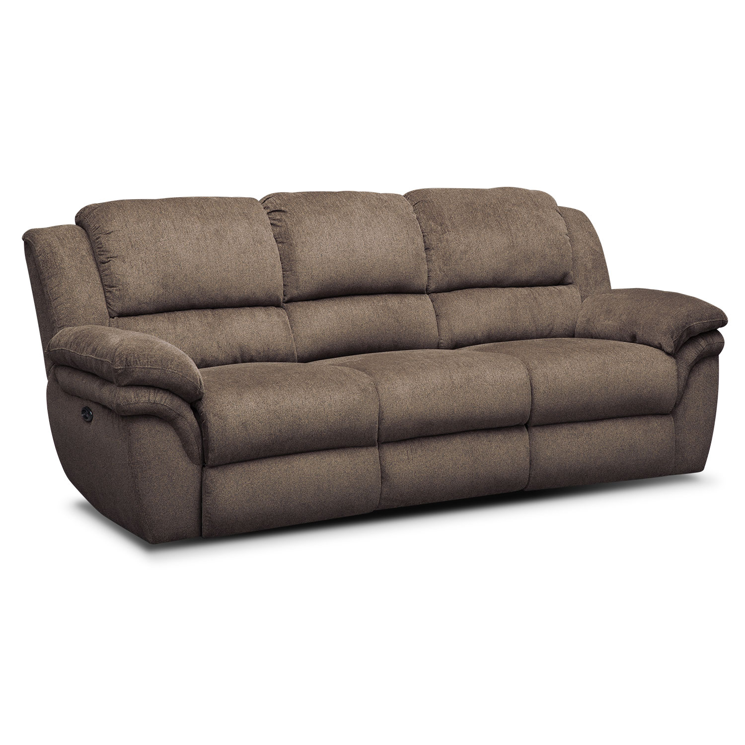 Aldo Power Reclining Sofa   Mocha Part 48