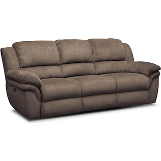 Aldo Power Reclining Sofa - Mocha