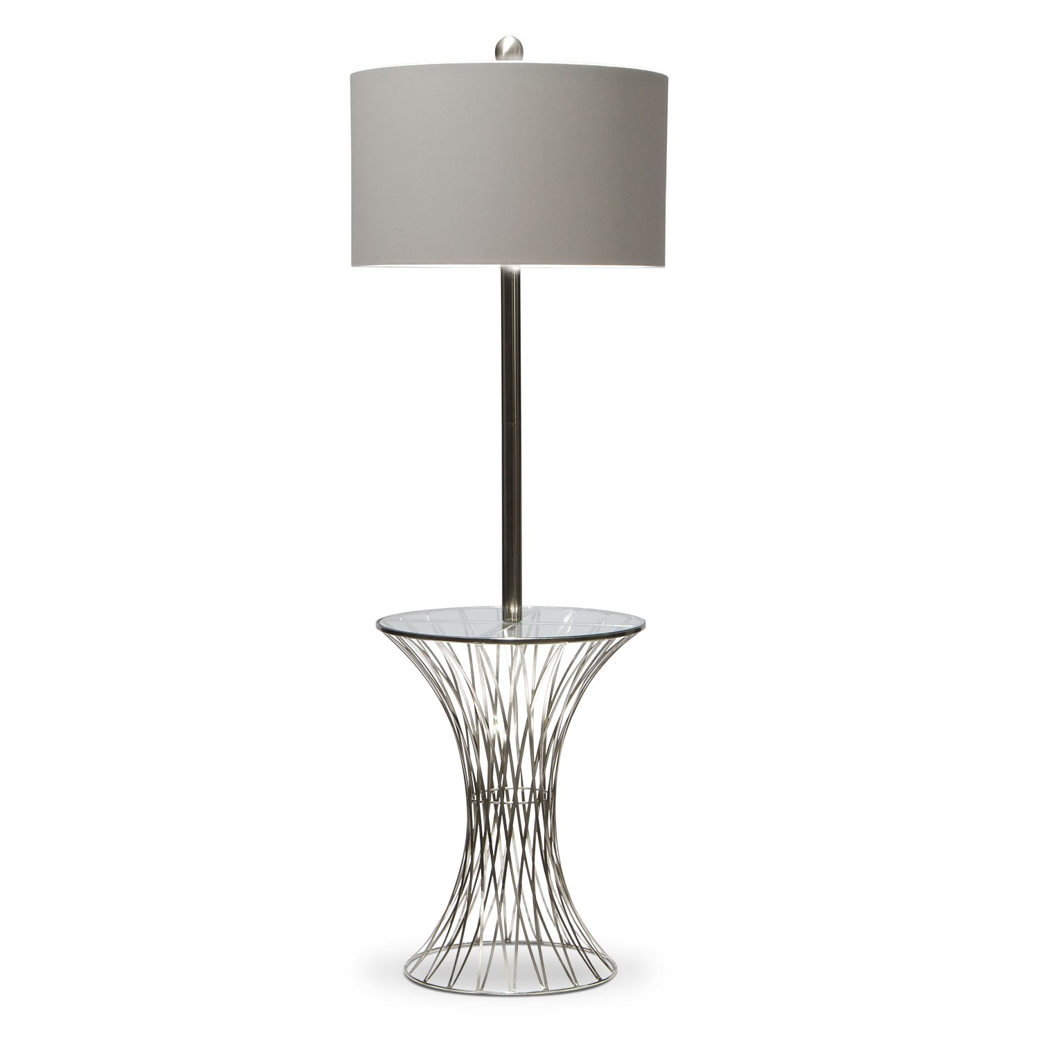 Accent and Occasional Furniture - Polished Nickel Floor Lamp