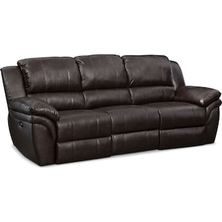 Aldo Power Reclining Sofa - Brown