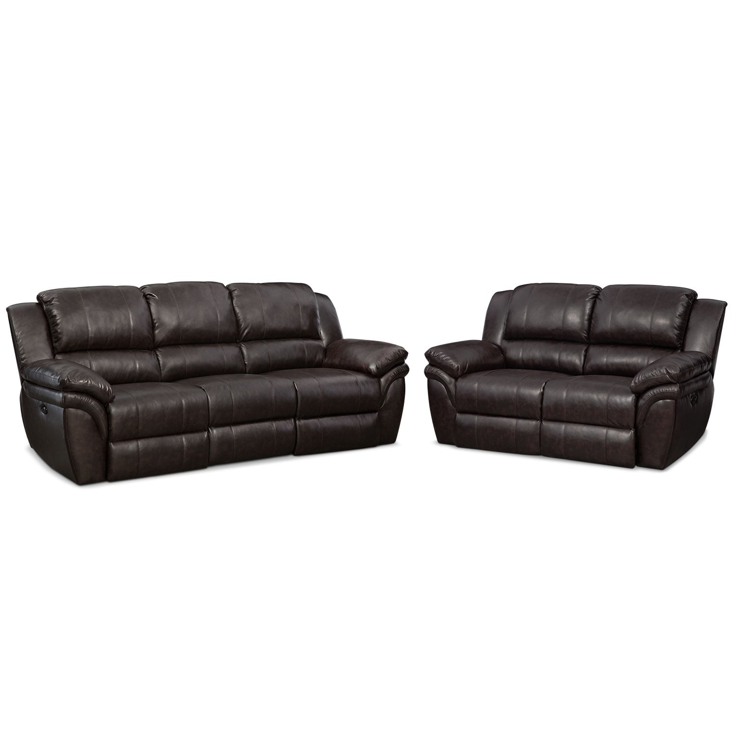Living Room Furniture - Omni Brown 2 Pc. Power Reclining Living Room