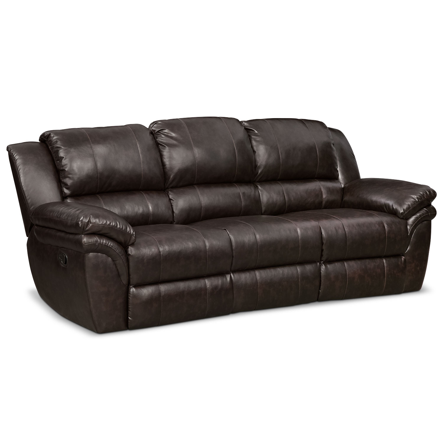 Aldo Manual Dual Reclining Sofa Loveseat Free Recliner Brown American Signature Furniture