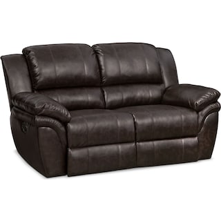 Aldo Manual Reclining Loveseat - Brown