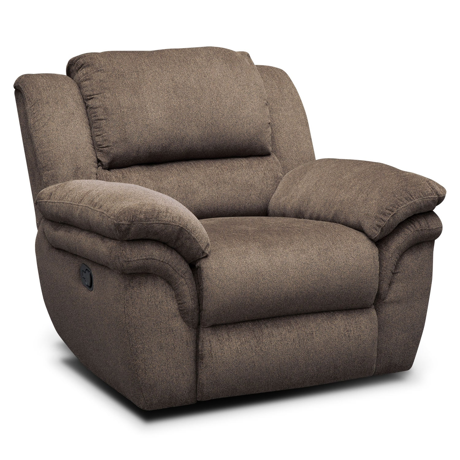 Aldo Manual Dual Reclining Sofa Loveseat and Recliner Set Mocha