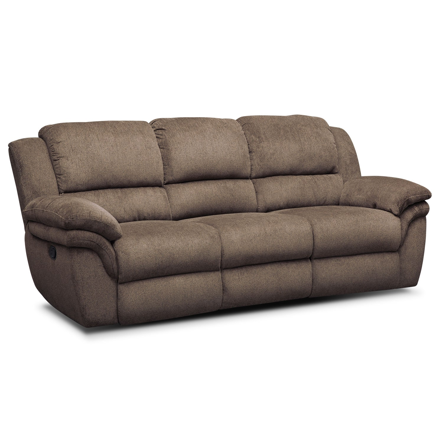 Elegant Aldo Manual Reclining Sofa   Mocha