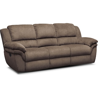Aldo Manual Reclining Sofa - Mocha