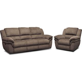 Aldo Power Reclining Sofa And Recliner Set American