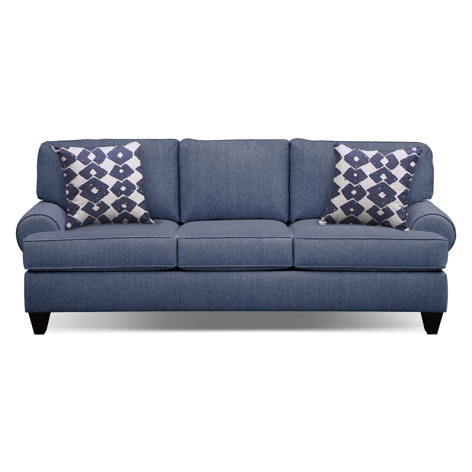 "Bailey Blue 91"" Innerspring Sleeper Sofa"