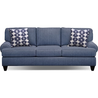 "Bailey Blue 91"" Memory Foam Sleeper Sofa"