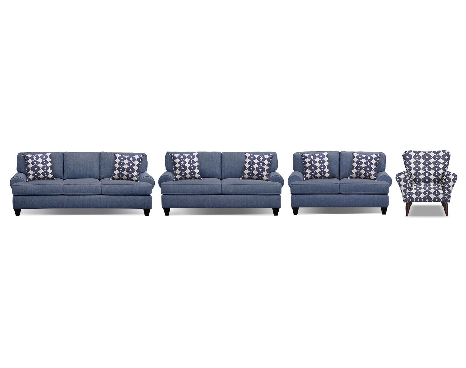 The Bailey Blue Living Room Collection