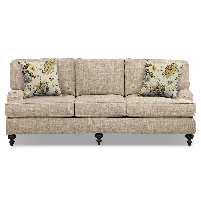 "Avery Taupe 86"" Memory Foam Sleeper Sofa"