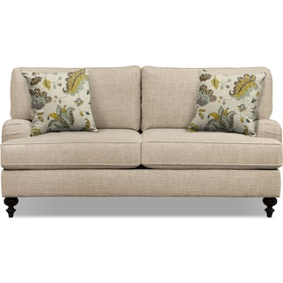 "Avery Taupe 74"" Innerspring Sleeper Sofa"