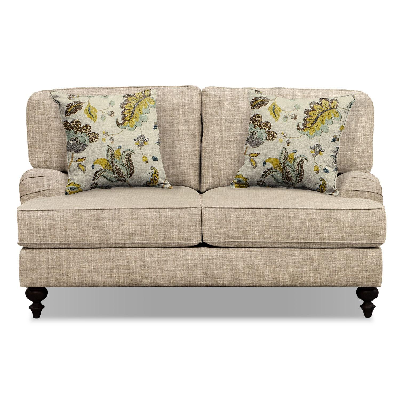 "Avery Taupe 62"" Innerspring Sleeper Sofa | Tuggl"