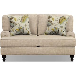 """Avery Taupe 62"""" Sofa"""