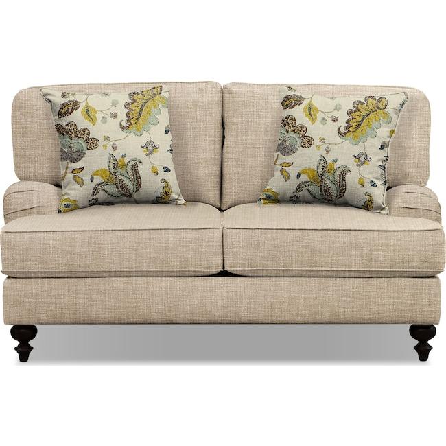 "Living Room Furniture - Avery Taupe 62"" Sofa"