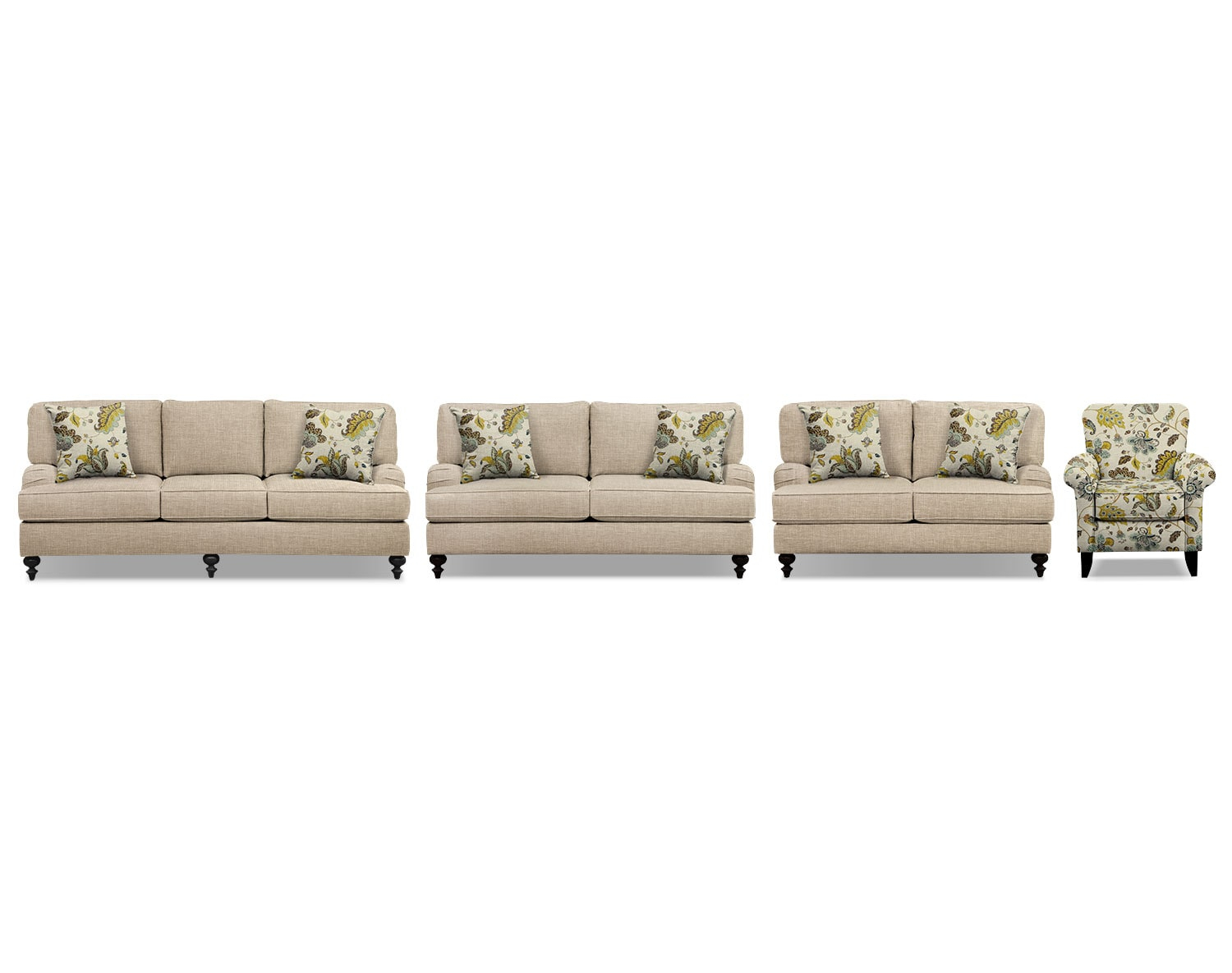 The Avery Taupe Living Room Collection
